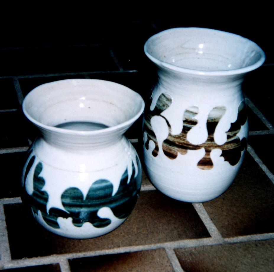 pair perth vases carved 1991