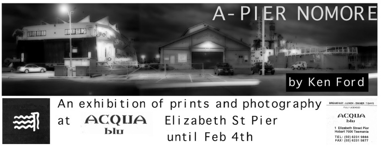 Acqua blu exhibition flyer